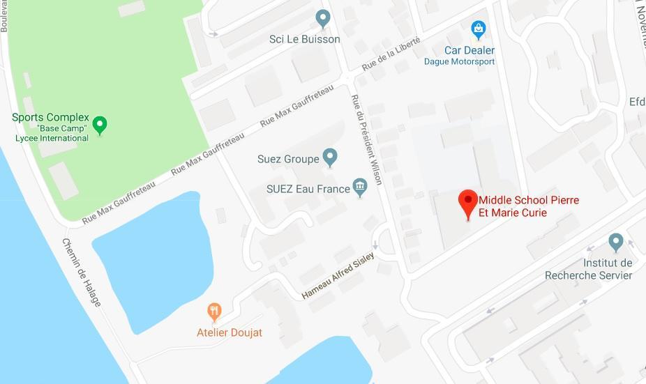 Google map - Collège Pierre et Marie Curie